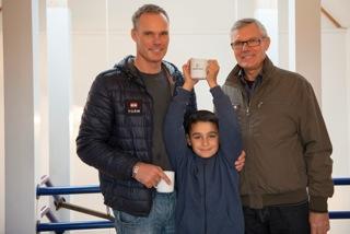 Tre generationer af dygtige sejlere i VSK.  Michael, 45 år, og hans far Jens Ole, 70 år,  og tredje generation Mark, 8 år.